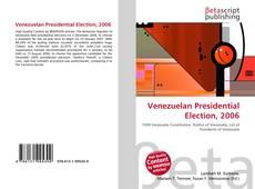 Buchcover von Venezuelan Presidential Election, 2006