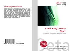 Portada del libro de Velvet Belly Lantern Shark