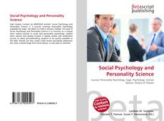 Couverture de Social Psychology and Personality Science