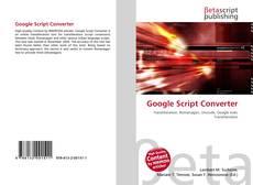Bookcover of Google Script Converter