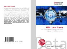 IBM Lotus Forms kitap kapağı