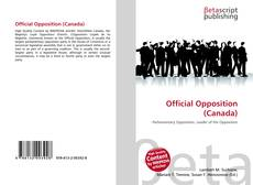 Copertina di Official Opposition (Canada)