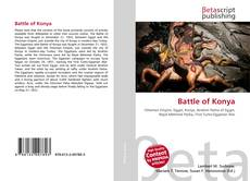 Capa do livro de Battle of Konya