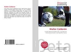 Portada del libro de Walter Calderón