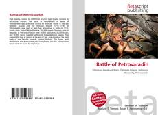 Capa do livro de Battle of Petrovaradin