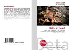 Bookcover of Battle of Kagul
