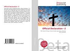 Official Declaration—2 kitap kapağı