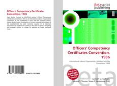 Capa do livro de Officers' Competency Certificates Convention, 1936