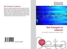 Bookcover of Rail Transport in Lebanon
