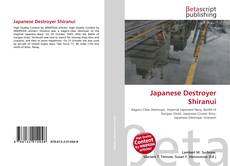 Couverture de Japanese Destroyer Shiranui
