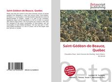 Bookcover of Saint-Gédéon-de-Beauce, Quebec