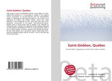Bookcover of Saint-Gédéon, Quebec