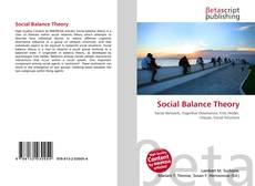 Bookcover of Social Balance Theory