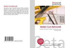 Buchcover von Walter Curt Behrendt