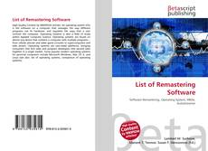 Bookcover of List of Remastering Software