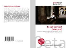 Bookcover of Social Contract (Malaysia)