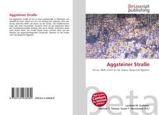 Capa do livro de Aggsteiner Straße