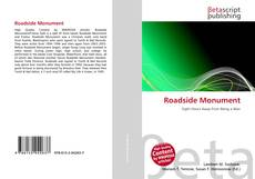 Bookcover of Roadside Monument