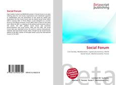 Bookcover of Social Forum