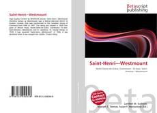Portada del libro de Saint-Henri—Westmount