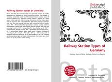 Bookcover of Railway Station Types of Germany