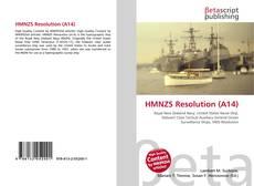 Portada del libro de HMNZS Resolution (A14)