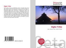 Bookcover of Ogbe Tribe