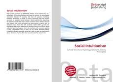 Bookcover of Social Intuitionism