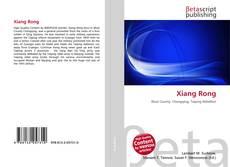 Portada del libro de Xiang Rong