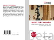 Couverture de Warrior of Hirschlanden