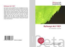 Portada del libro de Railways Act 1921