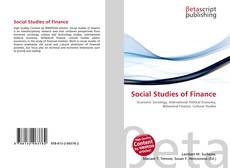 Bookcover of Social Studies of Finance