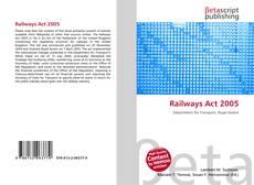 Portada del libro de Railways Act 2005