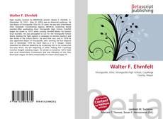 Couverture de Walter F. Ehrnfelt