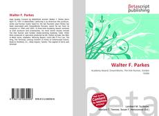 Couverture de Walter F. Parkes