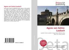 Обложка Agnes von Solms-Laubach