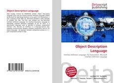 Capa do livro de Object Description Language