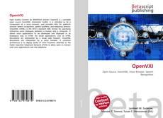 Buchcover von OpenVXI