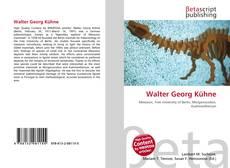 Bookcover of Walter Georg Kühne