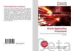 Bookcover of Oracle Application Framework