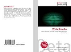 Bookcover of Wola Rowska