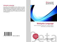 Bookcover of Wolaytta Language