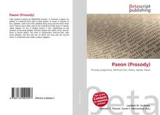 Bookcover of Paeon (Prosody)