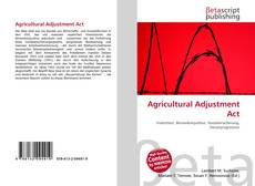 Copertina di Agricultural Adjustment Act
