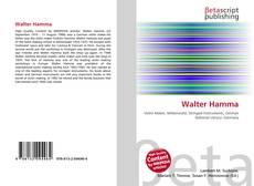 Bookcover of Walter Hamma