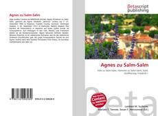 Обложка Agnes zu Salm-Salm