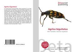 Обложка Agrilus biguttatus