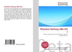 Bookcover of Rhaetian Railway ABe 4/4 I
