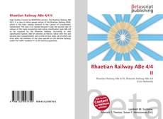 Bookcover of Rhaetian Railway ABe 4/4 II