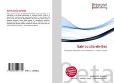 Buchcover von Saint-Julia-de-Bec